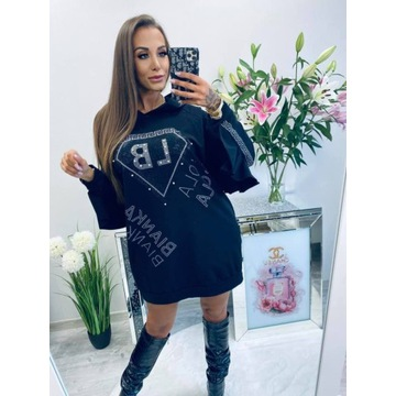 Lola bianka Sukienka 10453 black