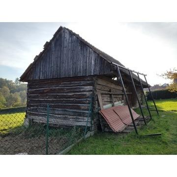 Stara stodoła do rozbiórki - drewno