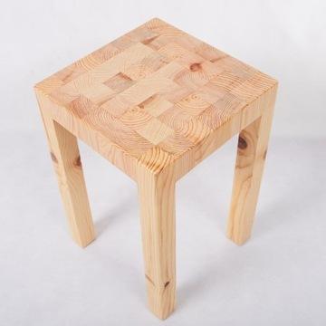 Stołek taboret drewniany sosna
