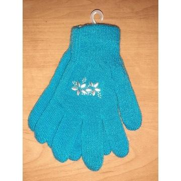 Nowe rękawiczki dziecięce damskie 17 18 cm S