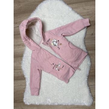 Bluza Sweterek z kapturem dziewczynka 92 98