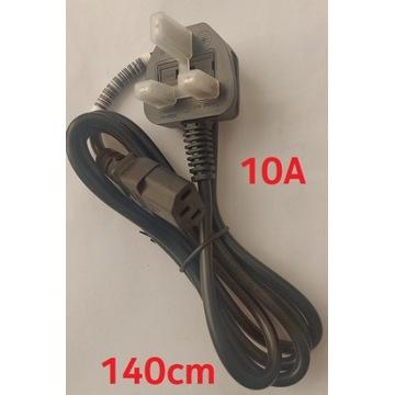 Kabel zasilający wtyczka angielska UK 3 pin 1.4m