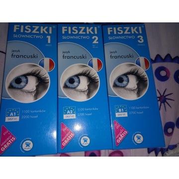 Fiszki - słownictwo + czasy język francuski