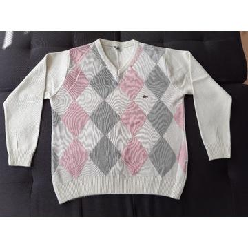 Sweter Lacoste r XL/XXL Bawełna Jak NOWY Wiosna