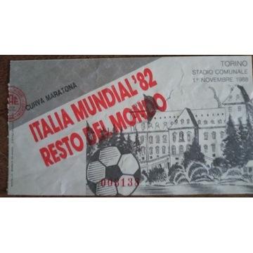 bilet ITALIA MUNDIAL 82 - RESTO DEL MONDO - 1988