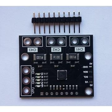 INA3221 pomiar prądu 3 kanały ARDUINO