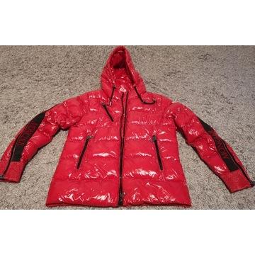 MONLER kurtka zimowa czerwona 38 M j.NOWA