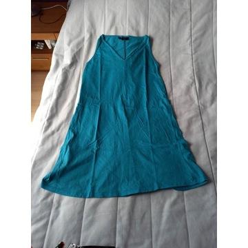 sukienka ciązowa turkus bpc