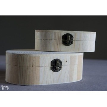 Komplet drewnianych pudelek
