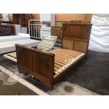 Łóżko zabytkowe ze stelażem antyk