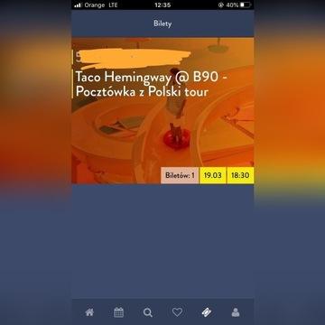 Bilet Taco Hemingway Gdańsk 9.03.2020