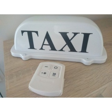 Bezprzewodowa lampa Taxi kogut LED szpakówka uber