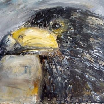 """""""Orzeł"""" obraz olejny 40/50cm"""