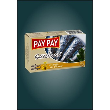 Sardynki w oleju słonecznikowy Pay Pay hiszpańskie