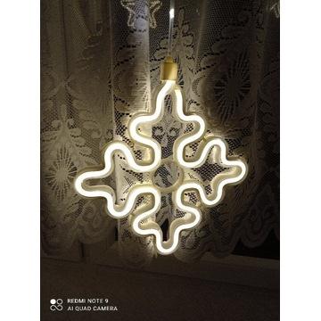 Kurtyna świetlna LED śnieżynki i gwiazdki