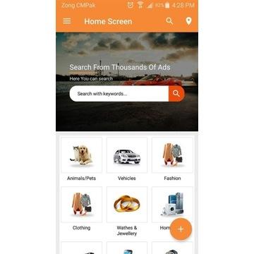 Aplikacja Android Lokalne ogłoszenia