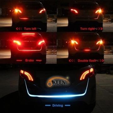 Dynamiczna Taśma LED RGB 120cm do klapy bagażnika