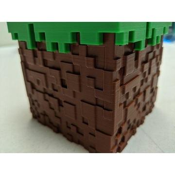 Minecraft pudełko blok trawy 8*8*8cm wysyłka 0zł