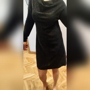 Sukienka Carry czarna błyszcząca rozm. S