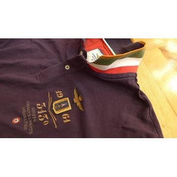 koszula polo AERONAUTICA Militare r. M L jak NOWA
