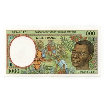 Afryka Centralna 1000 Franków. Prefix E. Stan UNC