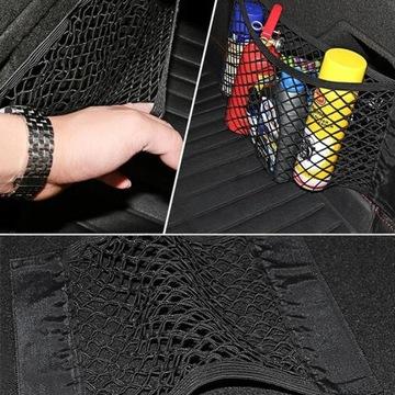 Siatka kieszeń bagażnika auta organizer rzep 40X25