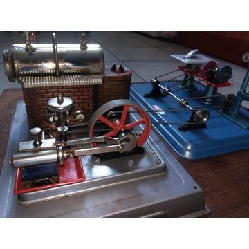 Wilesco-Maszyna parowa+zestaw
