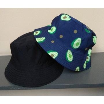 Bucket hat dwustronny czapka kapelusz avokado
