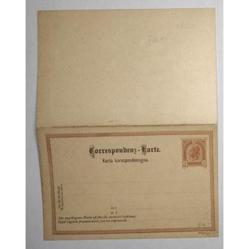 CP 11 typ I Karta Korespondencyjna 1890