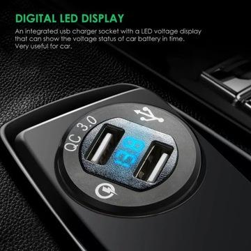 Dual USB QC 3.0 ładowarka samochodowa