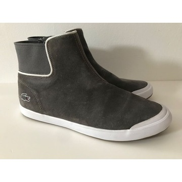 Sneakersy Lacoste - szary zamsz, jak nowe