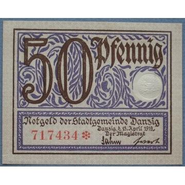 WMG.  50 pfennig 1919r. UNC.