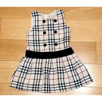 Sukienka BURBERRY 2-4 atka dl.54 cm