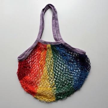 Torba siatkowa paryżanka eko retro zakupy net bag