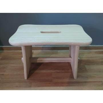 Taboret drewniany stołek ryczka