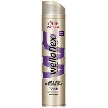 Wellaflex Lakier do włosów cienkich 250ml DE