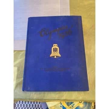 Rarytas album OLIMPIADA 1936 z wklejanymi zdjeciam
