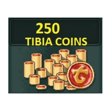 Tibia coins 250 TC PACC 30d każdy serwer najtaniej