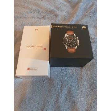 Huawei p40pro 8/256 czarny  zestaw z zegarkiem