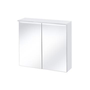 ACTIVE 841 - Szafka z lustrem 80-Biały/Połysk+ LED