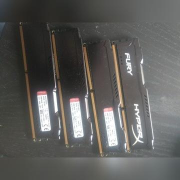HyperX, DDR3, 16 GB,1600MHz 4x4gb