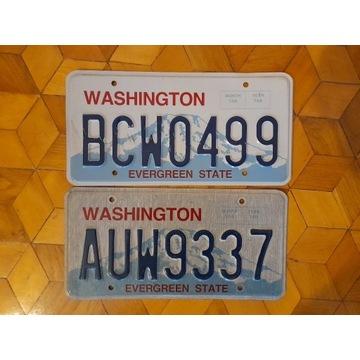 Washington 2 tablice rejestracyjne usa oryginal
