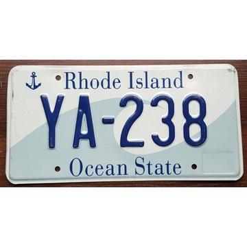 Rhode Island - tablica rejestracyjna z USA