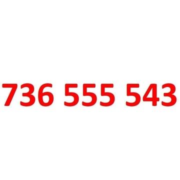 736 555 543  starter t-mobile złoty numer 5555
