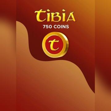 750 Tibia Coins Wszystkie serwery