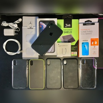 iPhone XR 64GB Czarny Gwarancja DUŻY ZESTAW