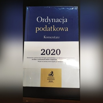 Ordynacja podatkowa. Komentarz 2020 H.Dzwonkowski
