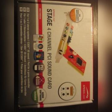 Karta dźwiękowa 4 Channel PCI Sound Card