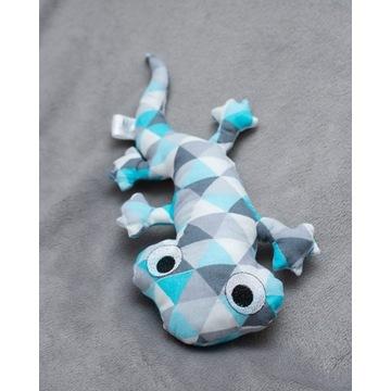 Gekon maskotka zabawka handmade