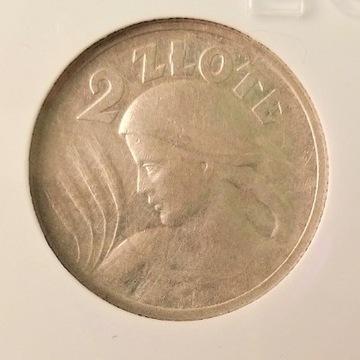 2 Złote 1924, AU 50-  Paryż róg i pochodnia